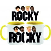 Taza Rocky faces