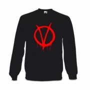 Sudadera V de Vendetta Blood