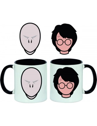 Taza Harry Potter vs Voldemort Faces